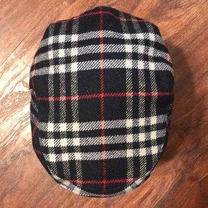 Vintage Burberry wool newsboy cap